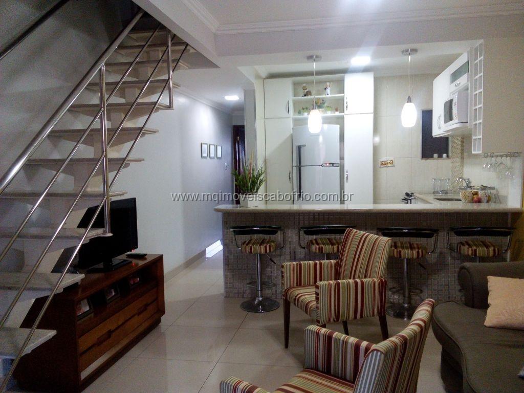 Linda Casa reforamada com ar – condionado em Condomínio – Praia Do Peró