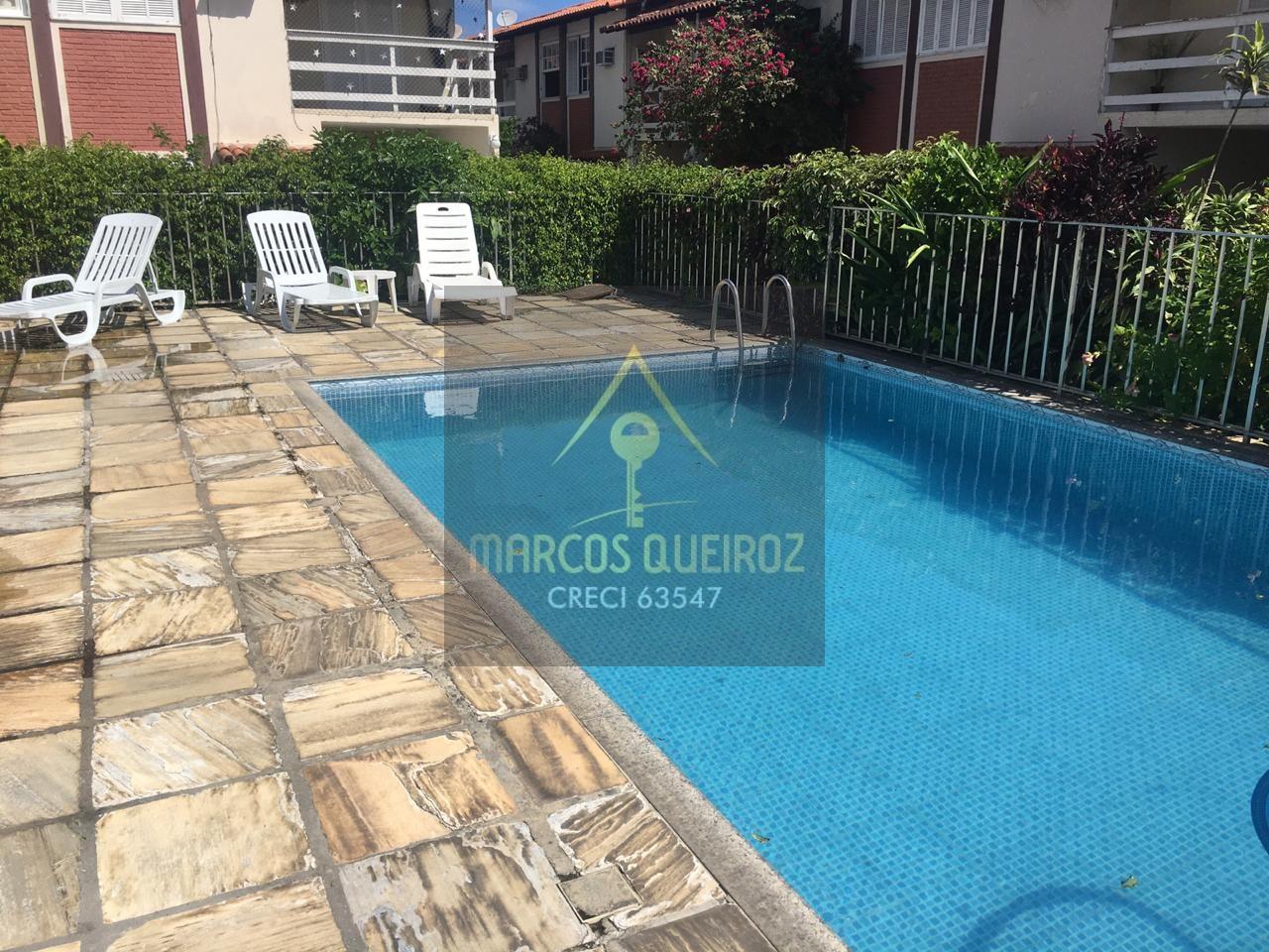 Cod:F69 Casa de 02 quartos em condomínio com piscina no bairro Palmeiras – aluguel fixo